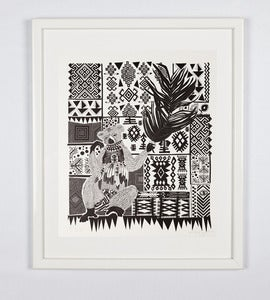 Image of Print#13 - Thinking monkey