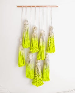 Image of COLLECTABLE > To John Denver With Love Dip-dyed Macrame Tassel Wall Hanging