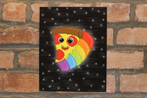 Image of space pizza gicle print