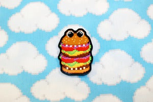 "Image of 1.5"" burger guy pin"