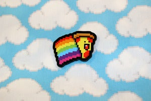 "Image of 1.5"" rainbow pizza pin"