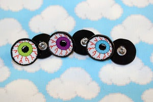 Image of 1&quot; eyeball earrings