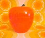Image of Fantastic 1970s Orange Apple Ice Bucket
