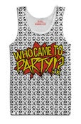 Image of Who Came To Party White Tank Top