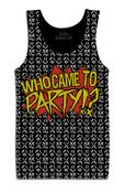 Image of Who Came To Party Black Tank Top