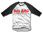 Image of Big Bad University 3/4 Sleeve Baseball Tee