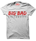 Image of Big Bad University Logo White Shirt