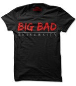 Image of Big Bad University Logo Black Shirt