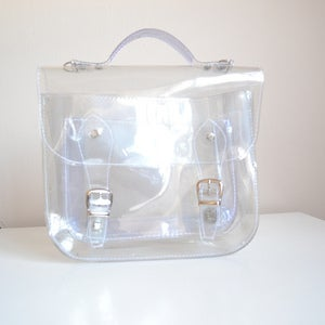 Image of Bag #3 Small Clear plastic satchel