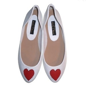 Image of LIMITED! 'Queen of Hearts' Ballet Pumps