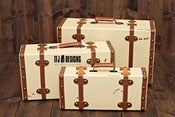 Image of Cream Distressed Suitcase - 3 Sizes - Vintage Style - Photography Prop
