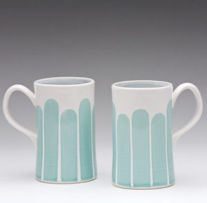 Image of Striped Mug: Turquoise or Yellow
