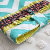 Image of ipad case - turquoise chevron