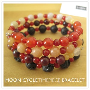 Image of Moon Cycle Timepiece Bracelet | Stone | One of a Kind | #1309