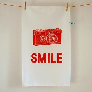 Image of Smile for the Camera tea towel