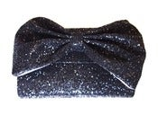 Image of Glitter Bow Clutch Bag - Betty Noire