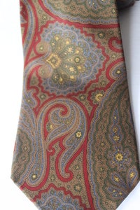 Image of Coach Burgundy Paisley Tie