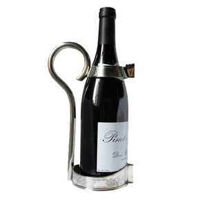 Image of Vintage Sheffield Silver Plated Wine Bottle Holder
