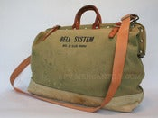 Image of Vintage BELL SYSTEM by Klein-Buhrke Linemans Tool Bag