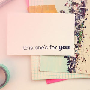Image of This One's For You | Rubber Stamp