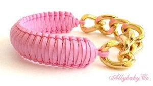 Image of Pink Chain Cobra Bracelet
