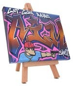 Image of &amp;#x27;Ready Aim&amp;#x27; Small Canvas and Easel