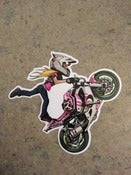 Image of J20 Cartoons Combat Barbie Wheelie Sticker