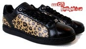 Image of Adidas/David Beckham Leopard Print Sneakers UK8.5/US9