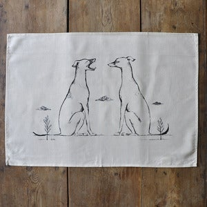 Image of Tea Towel ~ Yawning Hound