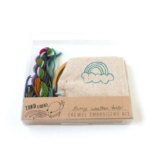 Image of Little Weather Trio Crewel Embroidery Kit
