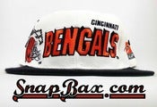 Image of Vintage Deadstock Cincinnati Bengals Sports Specialties Shadow Snapback Hat Cap