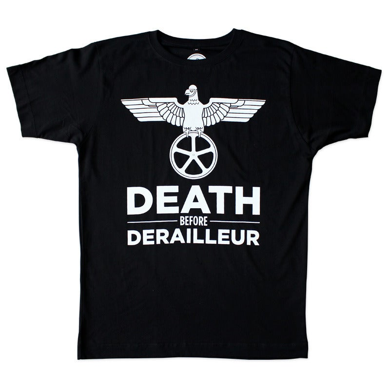 Image of Death Before Derailleur T-Shirt - Black
