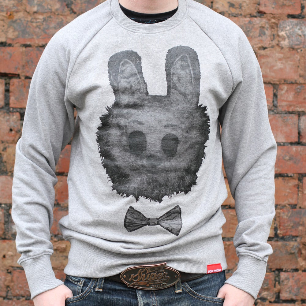 Image of BÖIKZMÖIND Glow-in-the-dark Bunny Crewneck Sweatshirt