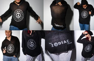 Image of The Zodiac unisex Burnout Hoodie - Black