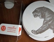 Image of animal letterpress coasters