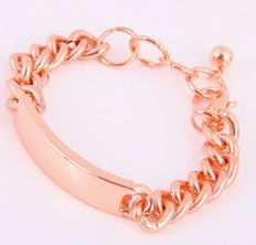 Image of ID Chain Bracelet (Rose Color)