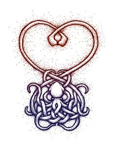Image of Tangled Heart Greeting Card