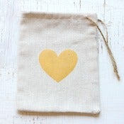 Image of NEW - Heart Muslin Bags