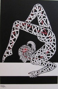 Image of &quot;Gym Balance&quot; ltd. edition screen print by Osch