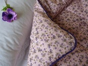 Image of  Devon Violet Piped Edge Single Eiderdown