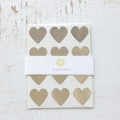 Image of 36 Silver Heart Stickers