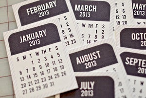 Image of Project Life 2013 Printable Calendar Cards