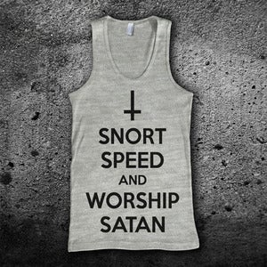 Image of Snort Speed and Worship Satan Tank Top
