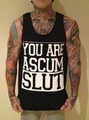 Image of SCUM SLUT SINGLET - BLACK