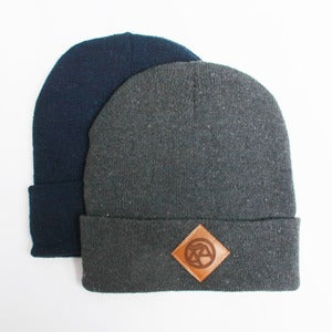 Image of Leather patch beanie