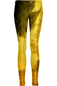 Image of Yellow road leggings