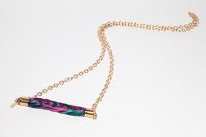 Image of Hand Dyed & Braided Horsehair Chain Necklace