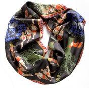 Image of BLACK FOREST SILK SCARF