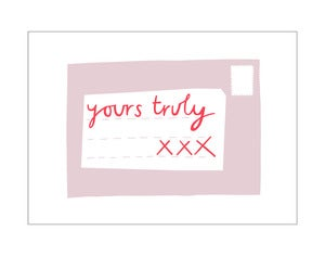 Image of 'Yours Truly' card