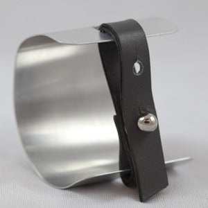 Image of Aluminum and Leather Cuff Bracelet